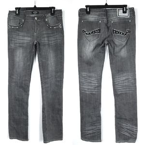 Pepe Embellished Gray Jeans